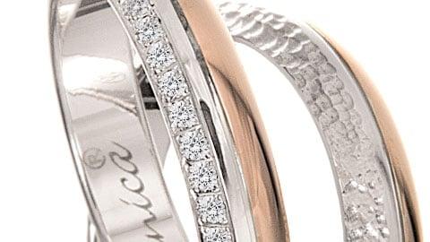 Fede unica giro dito diamanti
