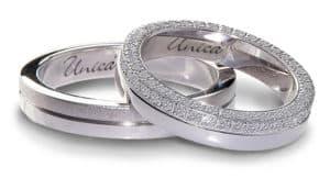 Fede nuziale Unica eternity di diamanti