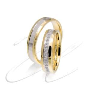 Giro dito di diamanti fedi nuziali Unica