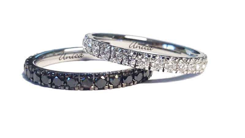 Eternity diamanti bianchi e neri