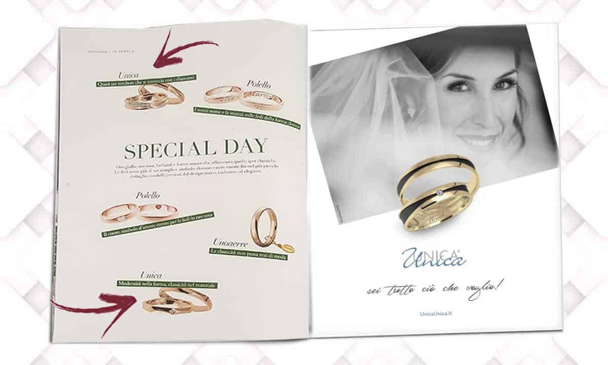 La tua storia d'amore con UNICA® su White Sposa gennaio 2021